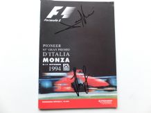 ITALIAN GP F1 Program 1994 SIGNED by Alesi, Berger,  Hill, Coulthard, Lehto, Verstappen